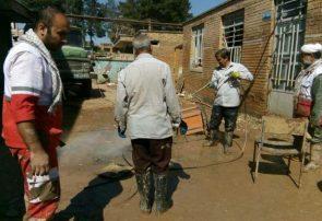 پاکسازی مدرسه زینبیه پلدختر توسط قرارگاه کمکهای مردمی قم