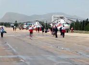ورود تیم هلال احمر قم به ستاد مرکزی در خرمآباد