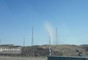 فوران نفت در حاشیه آزادراه قم – تهران
