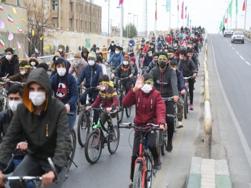 همایش بزرگ دوچرخه سواری مناسبت ولادت حضرت زهرا (س) و دهه فجر