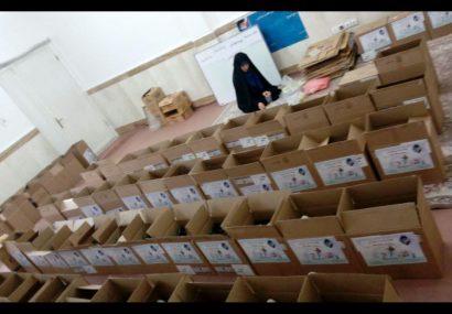 توزیع ۳۵۰۰ بسته غذایی و لباس در منطقه شهرقائم قم