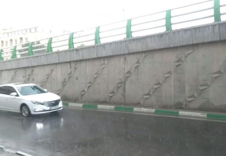 بارندگی شدید در قم