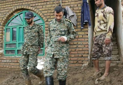 امدادرسانی به ۲۰۳ روستای سیلزده توسط قرارگاه سازندگی سپاه استان قم
