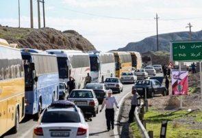 آخرین وضعیت ترافیکی استانهای در مسیر اربعین/ ترافیک پُر حجم در استان های شمالی