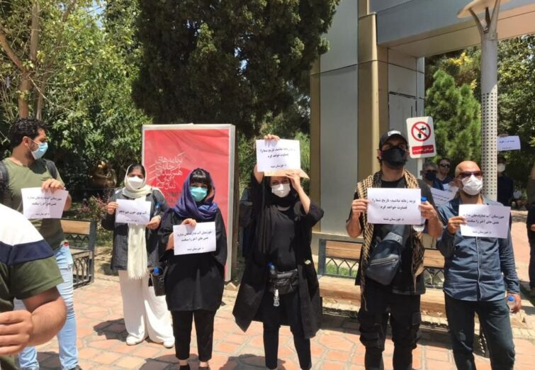 تجمع کارگردانان و بازیگران سینما در حمایت از مردم خوزستان